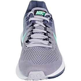 Nike Air Zoom Structure 21 Running Shoes Women provence purple/green glow-thunder blue